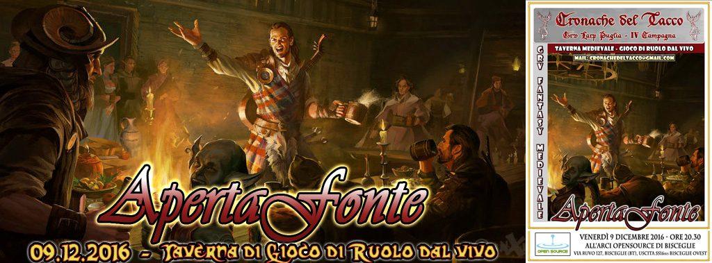 Cronache del Tacco IV Taverna Apertaafonte Grv Larp Puglia